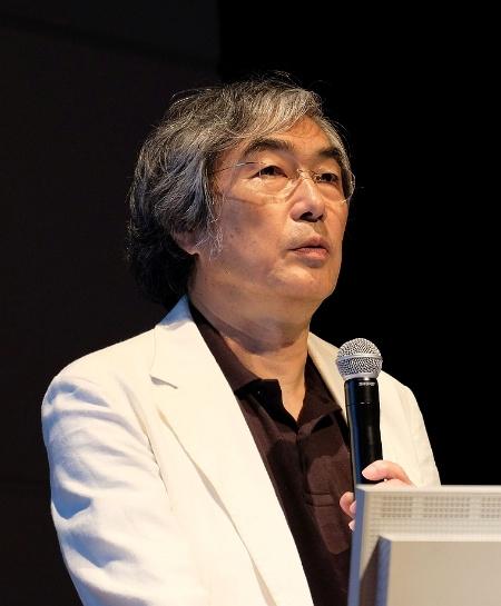 講演中の中島秀之札幌市立大学学長