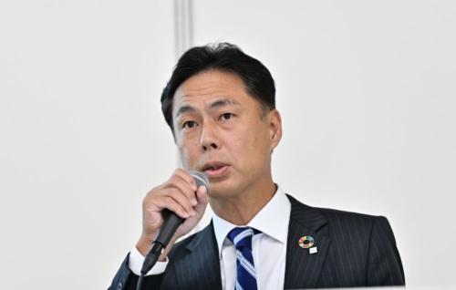 講演するリコー CEO室の浅香孝司室長