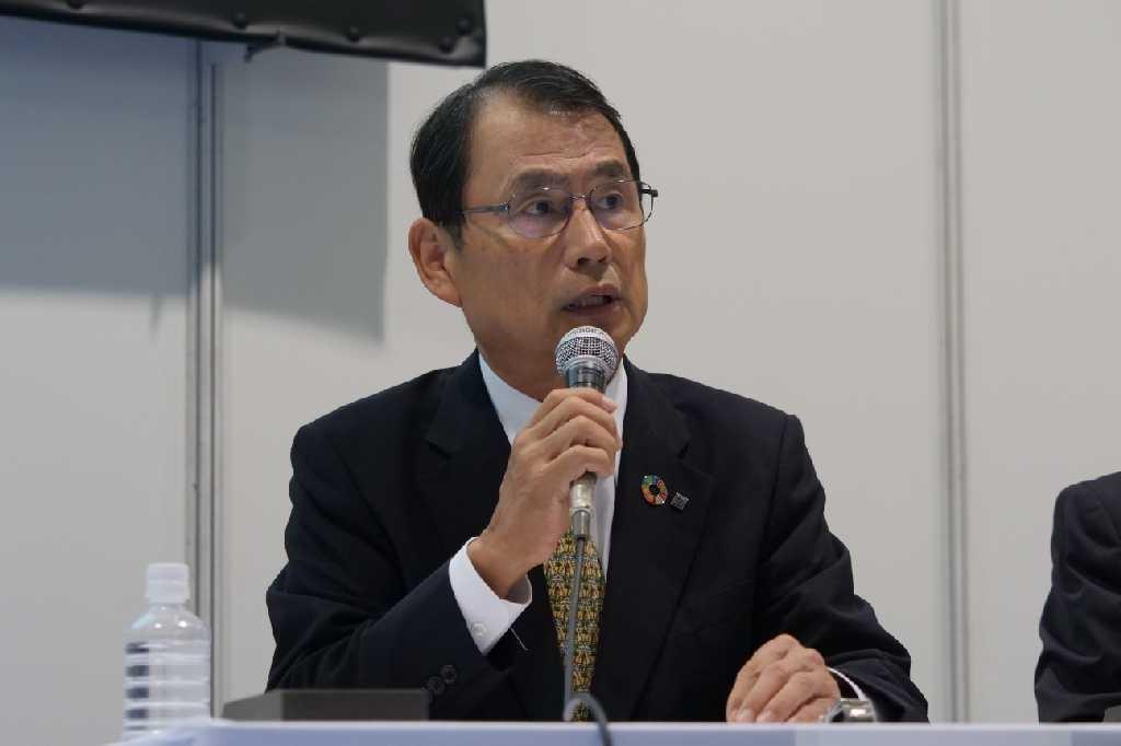 鹿島の高田悦久専務執行役員(写真:新関 雅士)