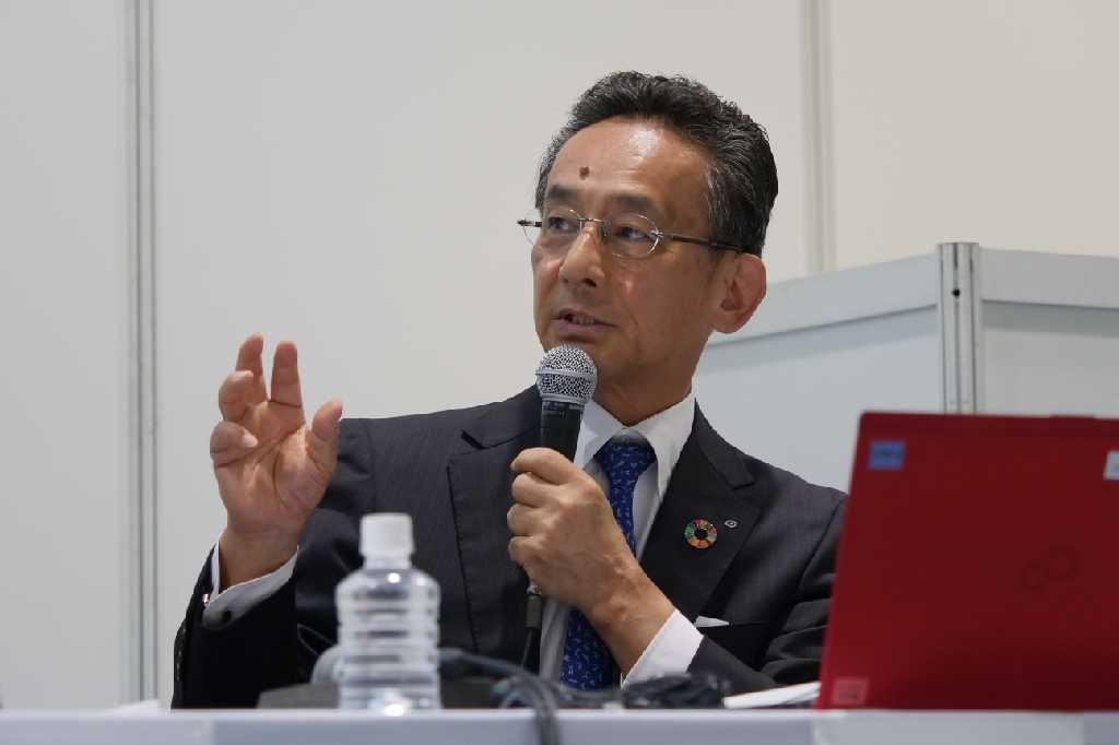 清水建設の印藤正裕常務執行役員(写真:新関 雅士)