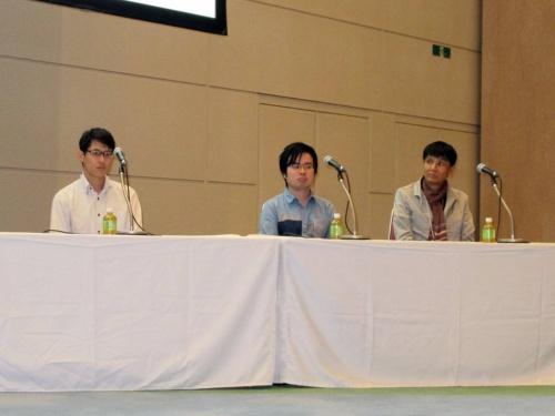 右からスクウェア・エニックスの太田健一郎テクノロジー推進部シニアAIエンジニア、一休 データサイエンス部の鈴木優氏、ブリヂストン デジタルソリューション本部ソリューションAI開発部の西山健太氏