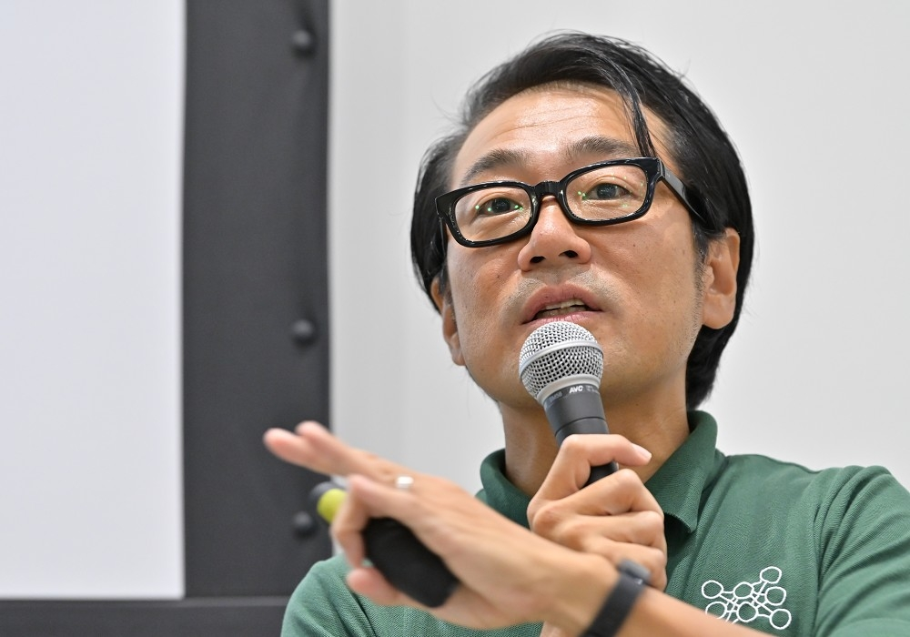 日本ディープラーニング協会(JDLA)の岡田隆太朗理事/事務局長 (撮影:中村宏)