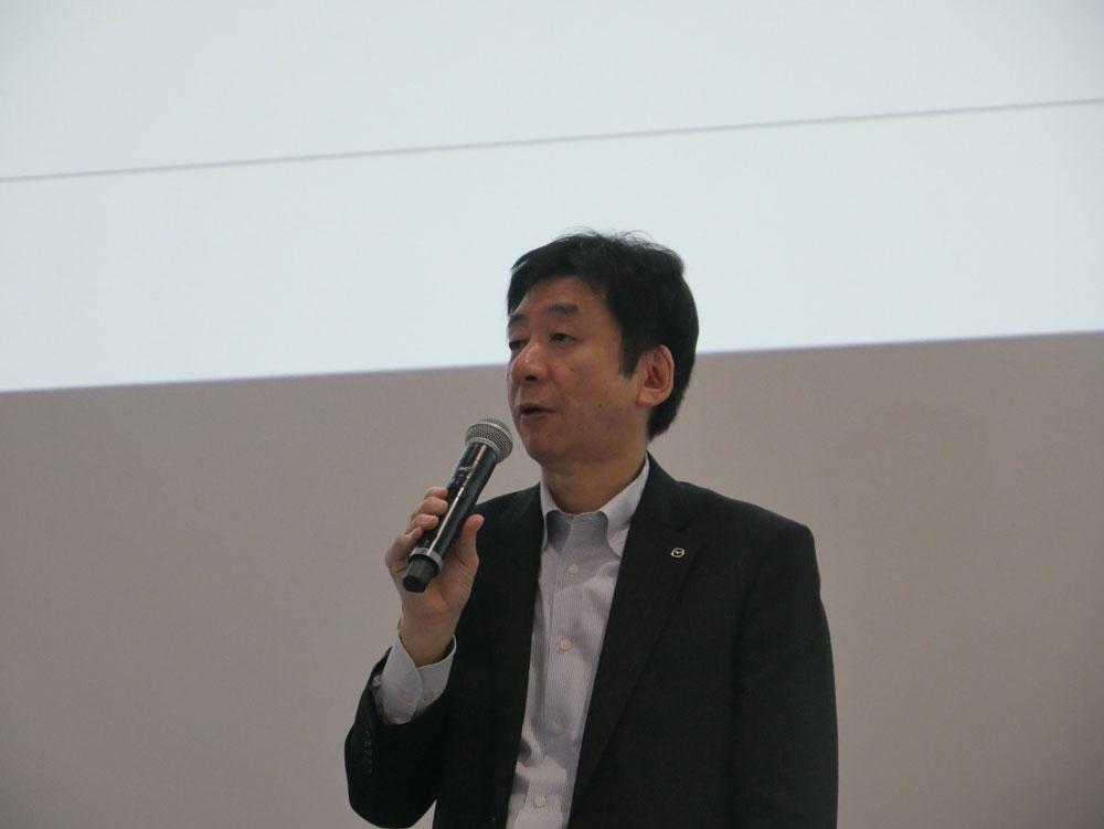 マツダ 執行役員 MDI&IT本部 本部長の木谷昭博氏 (撮影:安蔵靖志)