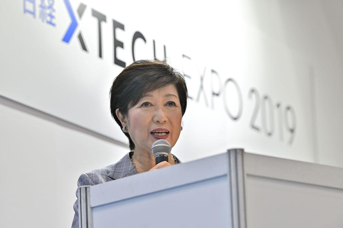 世界の都市間競争に打ち勝つためには、5Gのインフラ整備が欠かせないと語る小池百合子東京都知事(写真:中村 宏)