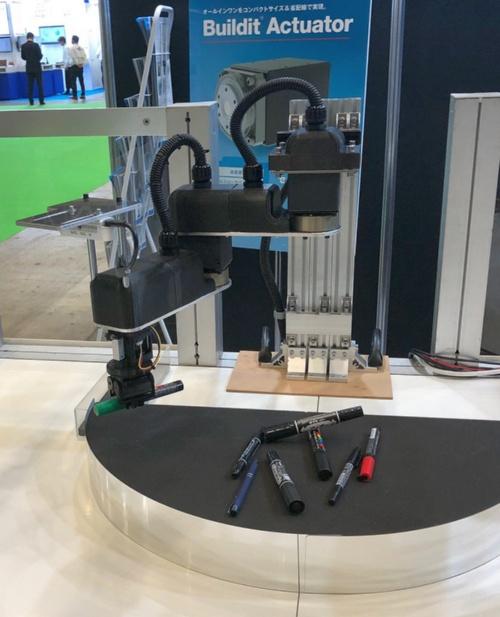 図2 アルファ版を使って試作した2軸ロボット