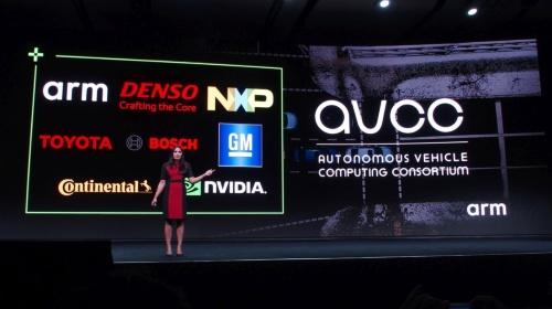 年次プライベートイベント「Arm TechCon 2019」でAVCCを発表(撮影:日経 xTECH)