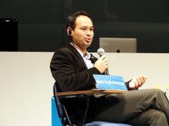 トヨタリサーチインスティチュート(Toyota Research Institute、TRI)ロボティクス担当副社長のマックス・バジェラチャーリヤ(Max Bajracharya)氏(写真:稲垣宗彦)
