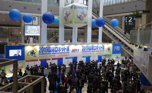 来場者ににぎわう2019国際ロボット展
