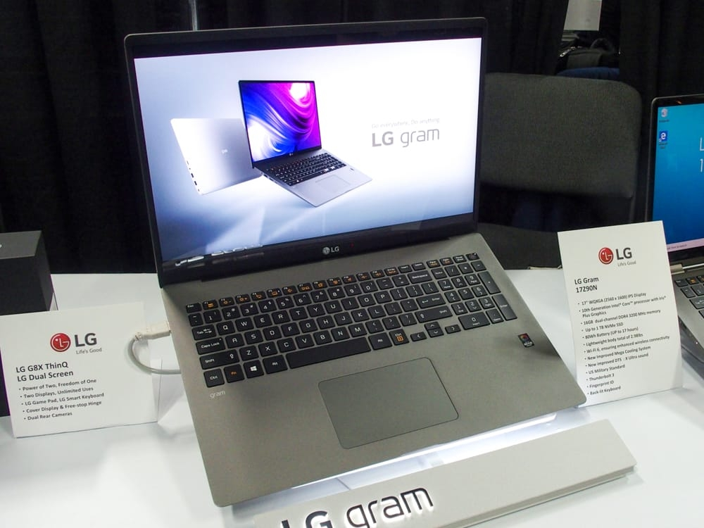 LGエレクトロニクスの「LG gram 17(17Z90N)」