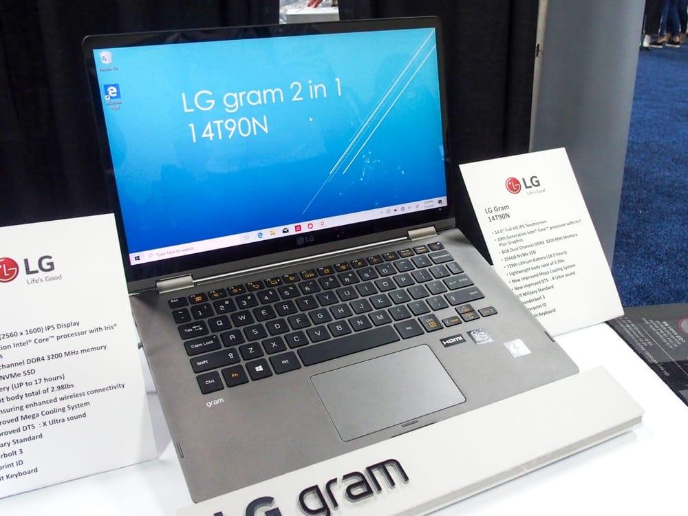 LGエレクトロニクスの「LG gram 2-in-1(14T90N)」