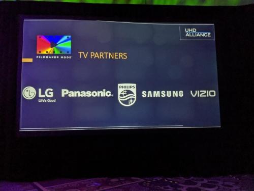 LGエレクトロニクス、パナソニック、フィリップス(TPビジョン)、サムスン電子、VISIOが本モードを採用