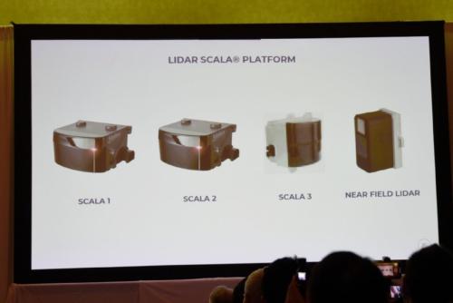 図5 Valeoは4種類のLIDARをラインアップへ