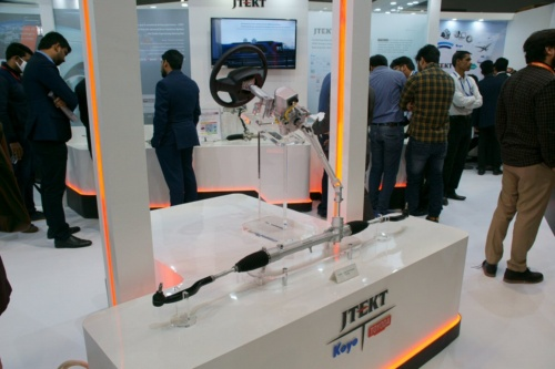ジェイテクト・インディアが「デリーモーターショー2020(Auto Expo 2020)」で展示したC-EPS