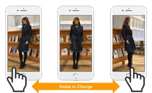 SwipeVideoの画面例