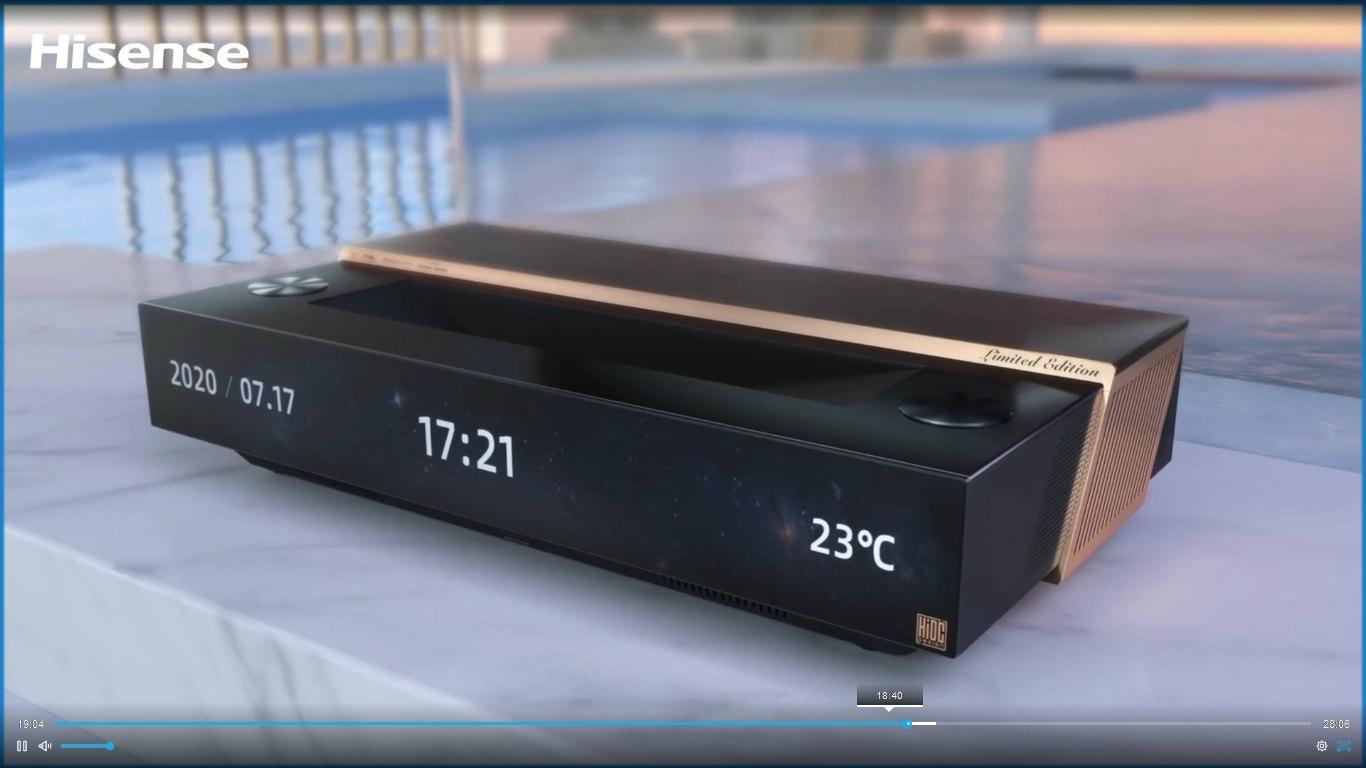 300インチを打ち出したハイセンス 「レーザーテレビ」と名付けた。出所:ハイセンス