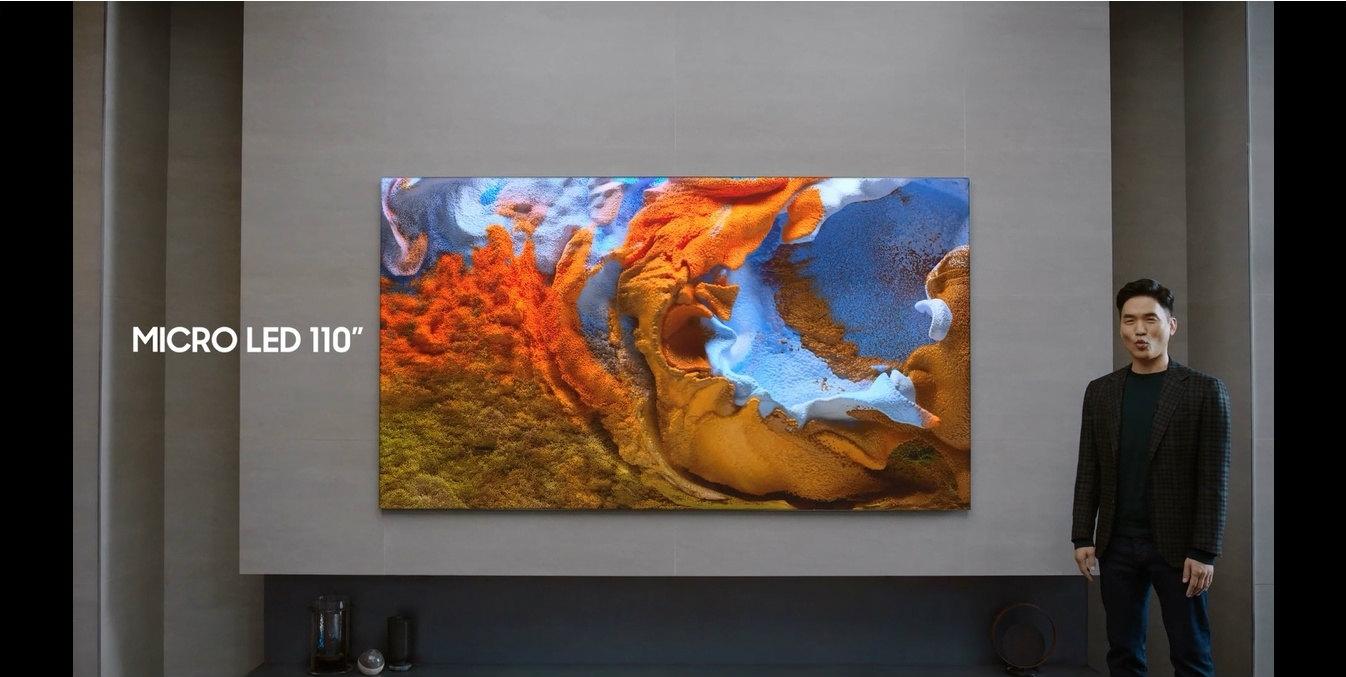 110インチの家庭用ディスプレー「MicroLED TV」 2020年秋にサムスン電子が発表した。