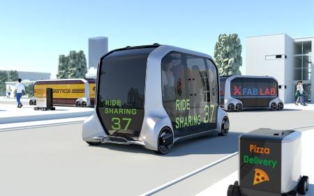 トヨタ自動車が2018年1月に発表したMaaS向けEVのコンセプト車「e-Palette」
