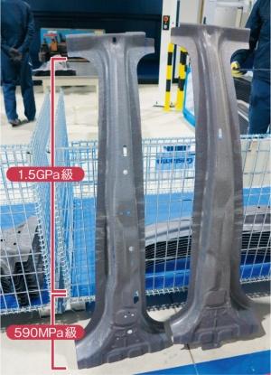 図1 ゲスタンプ日本工場で試作したセンターピラー