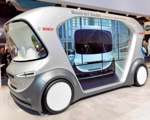 図2 Boschの自動運転シャトルのコンセプト車
