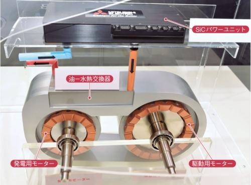 図1 三菱電機が開発したモーターとパワーユニット