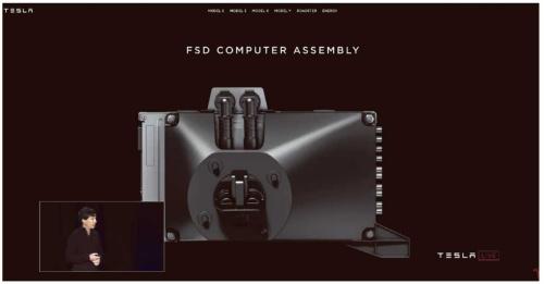 図2 車載コンピューター「FSD」