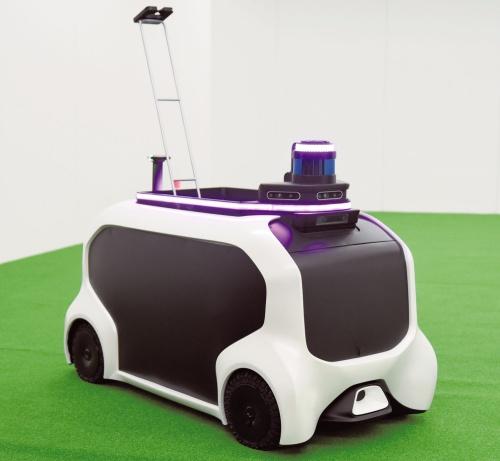 図1 トヨタが開発した自律走行ロボット「FSR(Field Support Robot)」