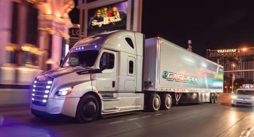 図 Daimlerの大型電動トラック