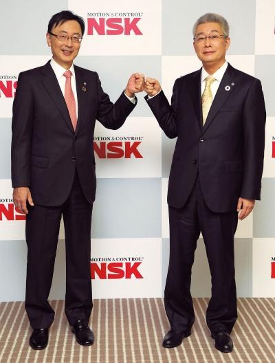 図 NSKが社長交代