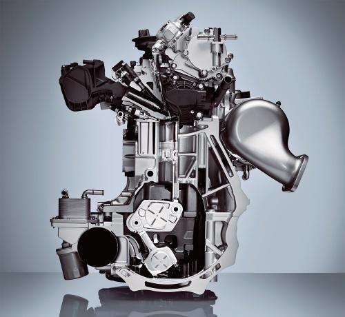 図2 16年のパリモーターショーに出展した日産のVCR(可変圧縮比)エンジン
