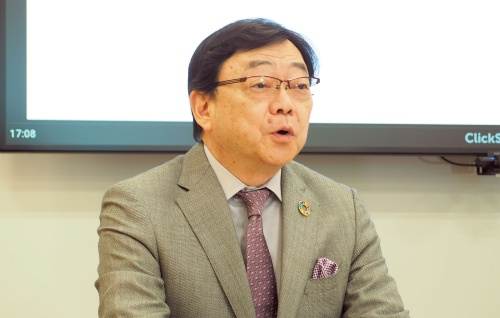 図1 出光興産社長の木藤俊一氏