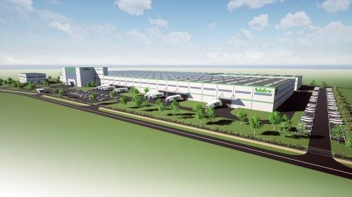図1 日本電産がセルビアに構える新工場の完成予想図