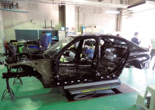 図1 「BMW3シリーズ」セダンのホワイトボディー