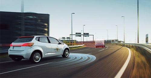 高速走行での運転支援システムのイメージ
