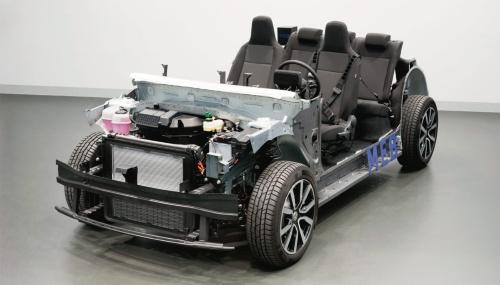 図1 VWのEV専用プラットフォーム「MEB」