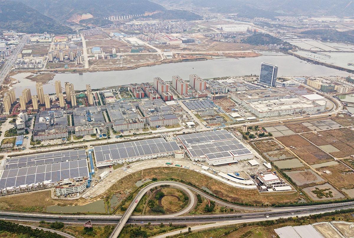 福建省寧徳にあるCATLの本社工場 (写真:Getty Images)