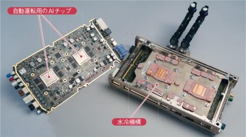 図1 モデル3が搭載する統合ECU(電子制御ユニット)「HW3.0」