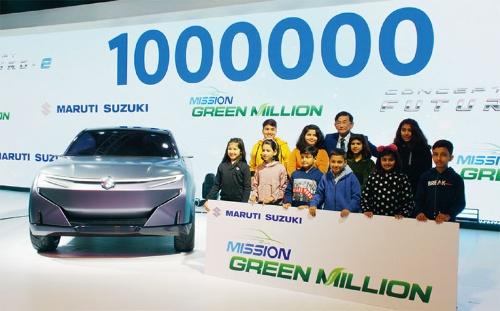 図2 環境対応車で100万台目指す