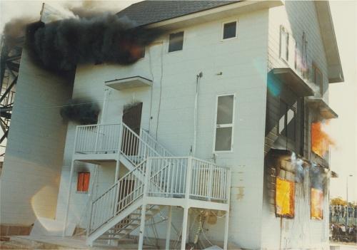 〔写真1〕煙の拡大は速い