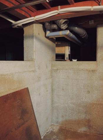 〔写真3〕メンテナンス用に地下室
