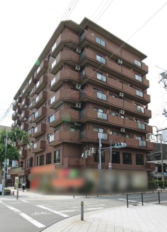 〔写真1〕折板屋根が飛散し、150m離れたマンションの8階を直撃