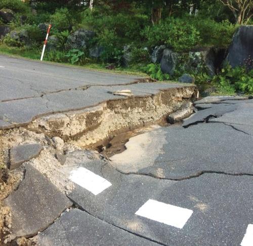 〔写真1〕開発地内で地盤被害が発生