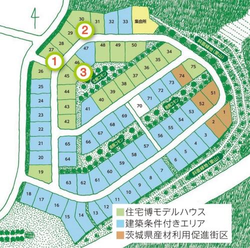 〔図1〕里山住宅博inつくばの区画