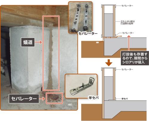 〔図1〕セパレーターの貫通孔から侵入