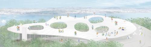 16年のプロポーザルで石上事務所が提出したデザイン案(資料:石上純也建築設計事務所)