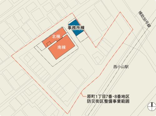 〔図1〕木造密集地の駅前再開発の核となる施設だった