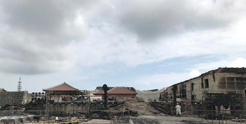 焼失後の様子(写真:内閣府沖縄総合事務局国営沖縄記念公園事務所)