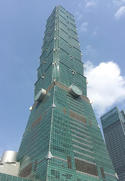 「台北101」で、完成から2010年まで世界で最も高かった。熊谷組が施工に携わった(写真:日経アーキテクチュア)