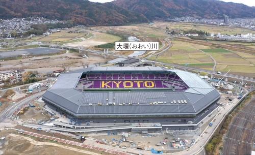 〔写真1〕完成目前の京都スタジアム