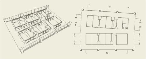 〔図1〕窓沿いに縁側廊下を配置