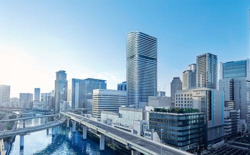 〔写真1〕マンションとホテルが一体の超高層